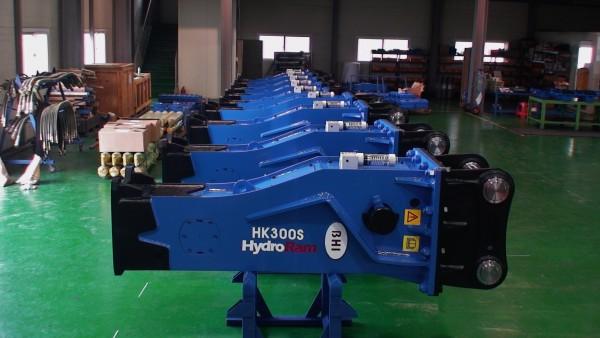 HydroRam HK300S Hydraulic Hammers on Floor