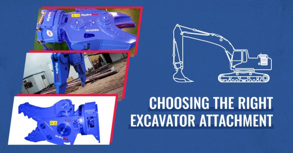 Choosing the Right Excavator Attachment | RJB Hydraulic Hammers