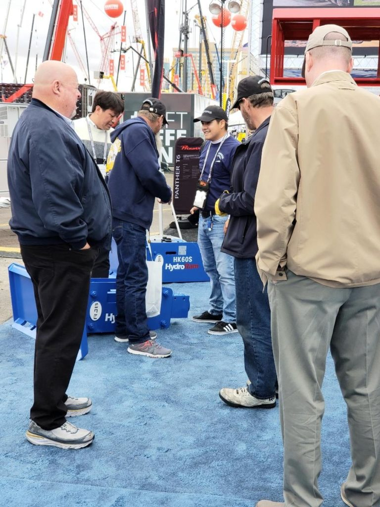 Talking about HydroRam Hydraulic Hammers at ConExpo 2020